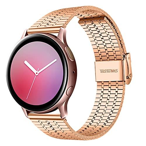 TopTen Pulsera de repuesto de acero inoxidable de 22 mm, compatible con Samsung Gear S3 Frontier/Classic, Galaxy Watch 46 mm, Galaxy Watch 3 45 mm,