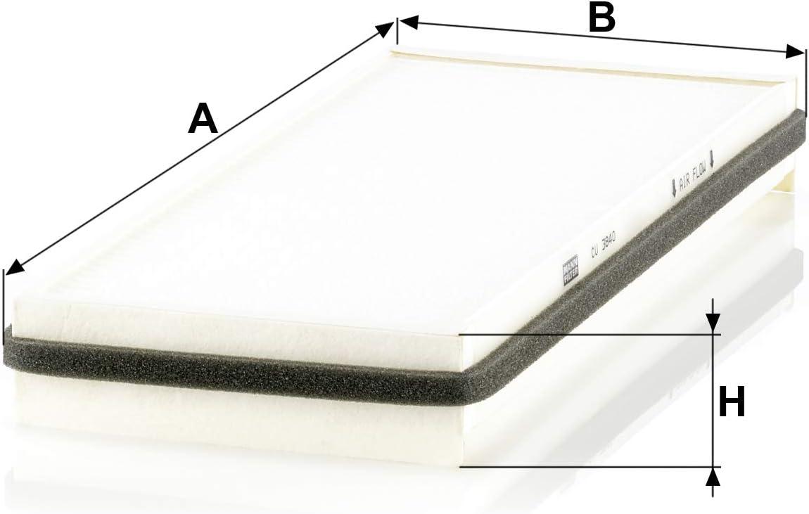Original Mann Filter Innenraumfilter Cu 3840 Für Pkw Auto