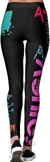 DIYCCY - Pantalones de yoga personalizados, repetición de nombre, 6 letras, para mujeres de cintura alta