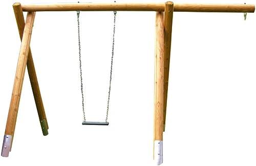 la calidad primero los consumidores primero B + T kiga1441de kiga1441de kiga1441de KMS de 220de su Balancín estructura para el Público einpl atzscha ukel de pino con überstand, stahlankern, cojinetes + 1columpio asiento altura  220cm  descuento