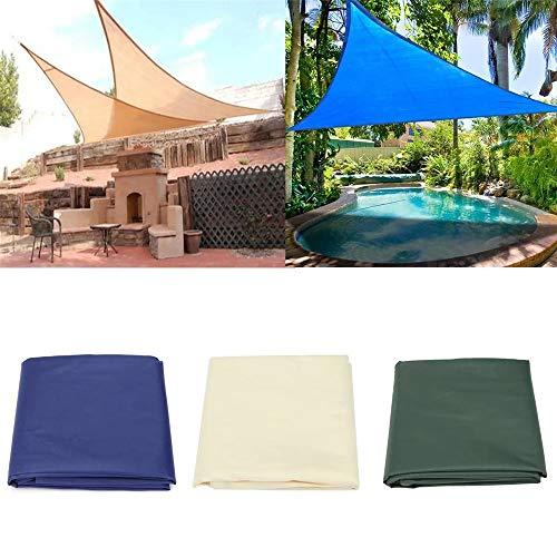 HO-TBO Giardino Gazebo, Parasole Sail Anti-UV outdooors Patio Prato Triangolo baldacchino della Tenda Blu Beige Facile da installare (Color : Beige, Size : L)