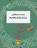 Address book paperback: Email Address Book And Contact Book, with A-Z Tabs Address, Phone, Email, Emergency Contact, Birthday 120 Pages large print 8.5' x 11'