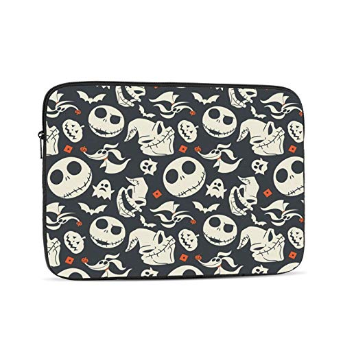 Anime Nightmare Before Christmas Laptop Sleeve Case Bag Cover Lightweight Notebook Computer Liner Bag Shockproof Computer Pocket Case Business Durable Carrying Bag Protective Bag 15 Inch