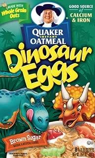 Pepsico Dinosaur Egg Instant Quaker Oatmeal, 14.1 Ounce -- 12 per case.