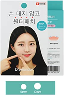 Dr.Wonder Acne Pimple Patch, 60 Dots in 1 Pack, 2 Sizes, Mint - Absorbing Cover Healing Hydrocolloid, Blemish Spot, Skin Treatment