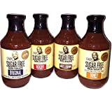 G Hughes Sugar Free BBQ Variety Pack Original, Honey, Maple Brown and Hickory