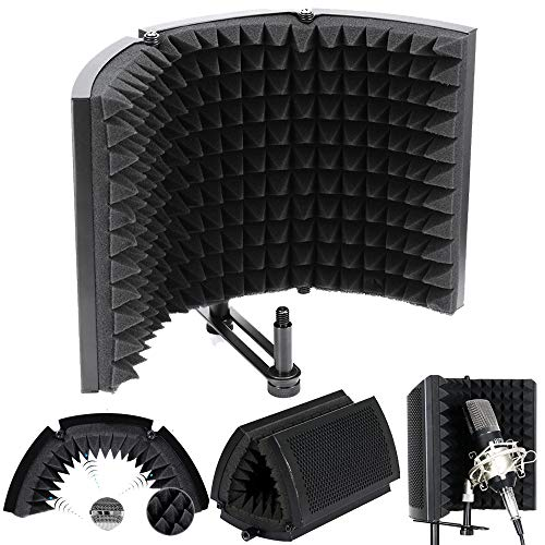 ALLOMN Espuma de Aislamiento de Micrófono, Panel de Aislamiento Acústico Plegable de...