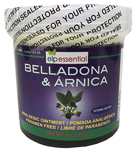 Belladona and Arnica Analgesic Ointment 5 oz (141g) Paraben Free