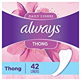 Always Thong Daily Liners for Women, 42 count, pack of 8