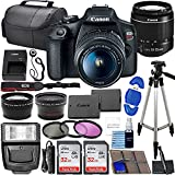 Canon EOS Rebel T7 DSLR Camera Bundle with Canon EF-S 18-55mm f/3.5-5.6 is II Lens + 2X 32GB Memory Cards + Filters + Preferred Accessory Kit
