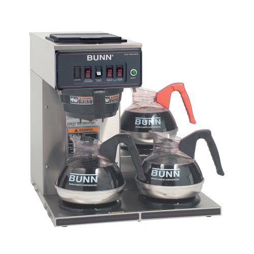 Bunn 12950.0112 CWT-3 Automatic Commercial Coffee Brewer with 3 Lower Warmers...