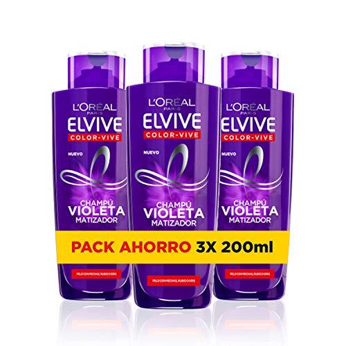 L'Oreal Paris Elvive Violeta Haarmaske Shampoo 200 ml (Paquete de 3)