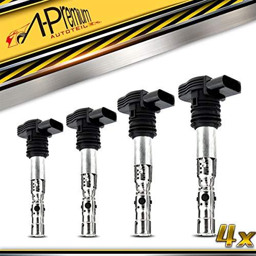 4x Zündspule für A3 8L A4 8D 8E 8H A6 4B TT Passat 3B Polo 9N 1.8L 2.0L 1996-2010 06B905115D