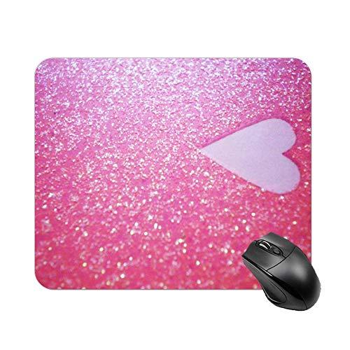 Alfombrilla para ratón de escritorio y portátil, diseño de amor, 1 unidad, 30 x 25 x 2 cm, color rosa