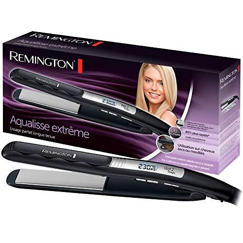 Remington Fer à Lisser, Lisseur, Plaques Flottantes Advanced Ceramic, Utilisation sur Cheveux Mouillés ou Secs - S7202 Aqualisse