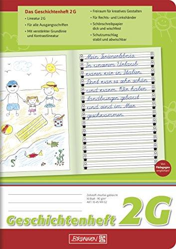 Brunnen 104599102 Geschichtenheft Klasse 2 (A5, 16 Blatt, Lineatur 2G)