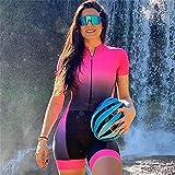 Tryst à cyclisme pour femmes Triathlon costume de costume professionnel à manches courtes cyclisme costume vélo respirant vélo 1 pièce Combinaison (Color : BLACK, Size : X-Small)