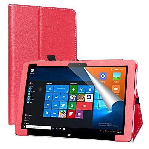 LiuShan Compatible con ALLDOCUBE iwork10 Pro Funda, Folio Soporte PU Cuero con Funda Caso para 10.1' ALLDOCUBE iwork10 Pro 2-in-1 Tablet PC,Rojo
