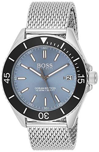 Hugo BOSS Reloj Analógico para Hombre de Cuarzo con Correa en Acero Inoxidable 1513561
