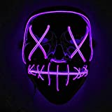 Immoch Halloween LED Mscaras Adultos LED Mask para la Fiesta de Disfraces, la...