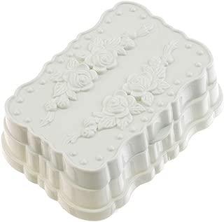 Elegant soap Box Soap Dish Holder/Soap Savers Dish Waterproof soap Box with lid Bathroom Drain soap Box Creative Large Travel soap Tray soap Holder, Blue (Color : Beige)