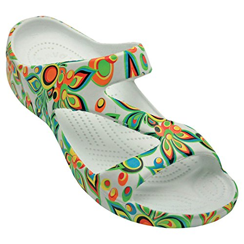 DAWGS Women's Arch Support Loudmouth Z, Shagadelic White, 10 M US