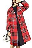 Las Mujeres De Manga Larga A Cuadros De Lana Invierno Casual Outwear...