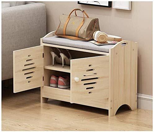 ZfgG Footstool Shoe Rack Can Close The Cabinet Door PU Pad Waterproof Stool Shoe Storage Bench Sofa Stool Simple Modern Office Cabinet Storage Stool (Color : E, Size : 60x30x49)