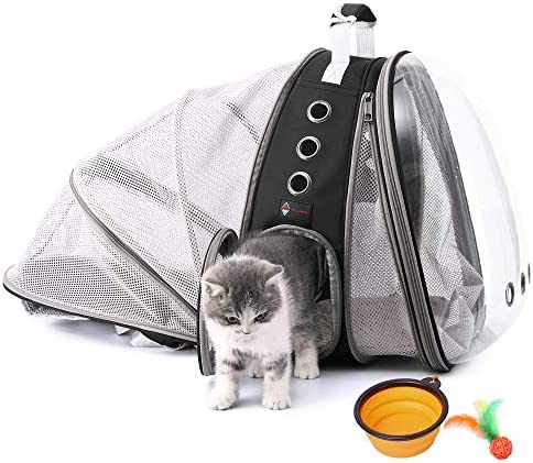 HOTLANTIS Cat Carrier Backpacks Bubble Backpack for Small Dogs Puppies Kittens Clear Pet Backpack product image