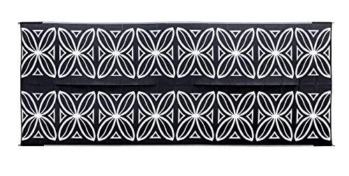 2.44 x 6.1 m Camco 42832 Stuoia Reversibile per Esterni Borgogna con Motivi Vegetali