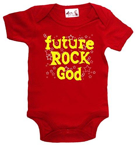 Dirty Fingers Future Rock Dieu, body bébé - Rouge - XXS