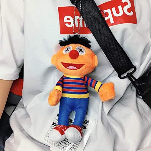 Schlüsselanhänger Plüsch Anhänger Puppe Schultasche Cartoon Schmuck Ernie