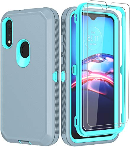 ONOLA Compatible for Moto E Case 2020 with HD Screen Protector (2 Pack),Drop Protection Full Body Rugged Heavy Duty Case,Shockproof Dust Proof 3-Layer...