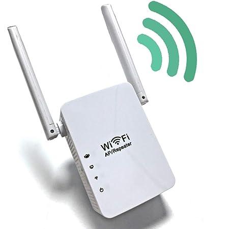 Lvozize Repetidor WiFi, 300Mbps/2.4GHZ Amplificador WiFi Extensor de Red WiFi Repetidor de Señal WiFi Plug and Play, Router Inalámbrico Modo Ap ...