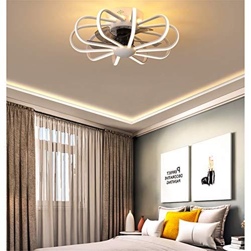 YOUXI Deckenventilator Mit Beleuchtung Leise LED Dimmbar Ventilator Deckenleuchte Mit Fernbedienung Einstellbare Windgeschwindigkeit Deckenlampe Für Schlafzimmer Schlafzimmer Esszimmer,Weiß