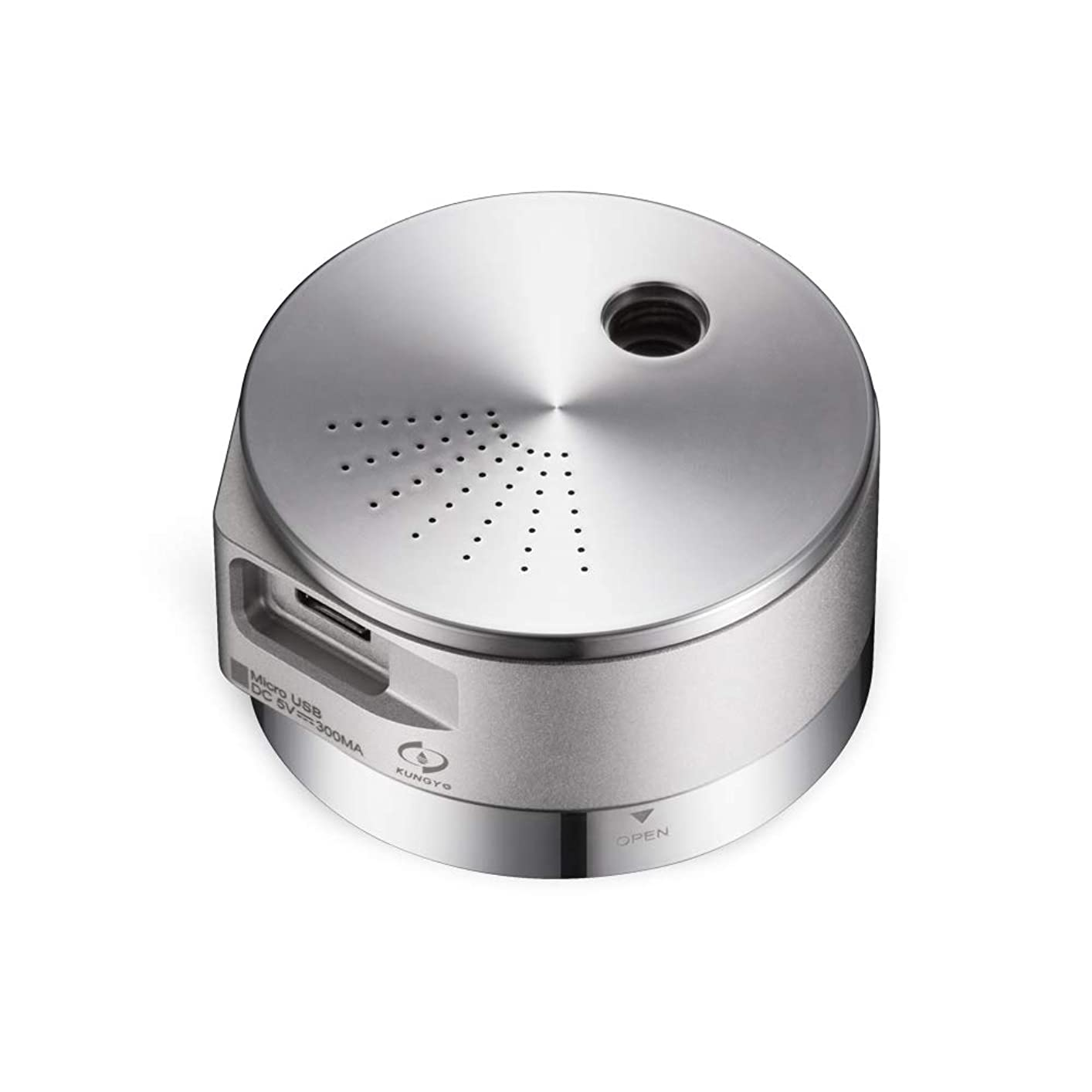 ホイール気難しい肺ミニ加湿器 - ポータブルエッセンシャルオイルディフューザー、USBチャージ、自動シャットオフアロマディフューザー(アルミ、25ml) 141[並行輸入]