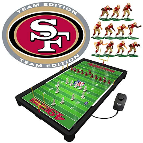 Tudor Games San Francisco 49ers NFL Electric Football Game, 25.5 x 14.5 x 2 inches