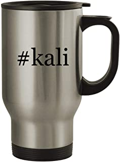 #kali - 14oz Stainless Steel Hashtag Travel Coffee Mug, Silver