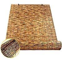 RENQIAN Semi-Sombreado Persianas De Bambú Colgante De Pared Elevación Reed Shutter Roller Partition Door Parasol Sombrilla para Interiores Y Exteriores-150Cm × 300Cm / 59In × 118In
