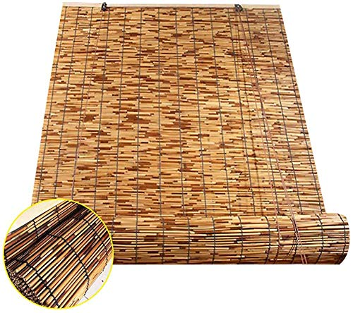 Renqian halfschaduwende bamboejaloezieën wandbehang optillen reed shutter roller partitie deur stro-parasol voor binnen en buiten