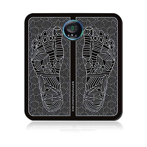 WAHHW EMS Fußmassagegerät, Tragbares elektrisches Shiatsu Fußmassagegerät/Elektronische muskelstimulierende Fußmassage zur Förderung der Durchblutung Muskelschmerzlinderung,Black a
