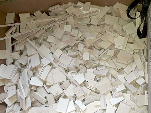 4-20kg Birke Multiplex Sperrholz Reste Holz Bastler Holzleiste Platten Zuschnitt unbehandelt Natur von Alsino, wählen:9-10 kg
