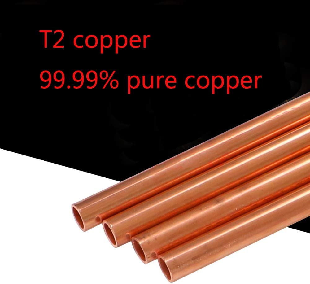 SOFIALXC Pur Copper Tube Tube DIY Rod Metal Raw Materials 500Mm Long 4 Pieces ,Diameter8mm,1mm Thick