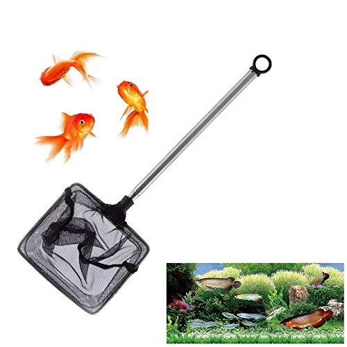 Xk Guadino per Acquario con Manico Telescopica Retino da Pesca Guadino allungabile per Tutti Gli Animali Acquatici Adatti per Uso Domestico e Acquario Adatto per Molte Occasioni(rettangolo)