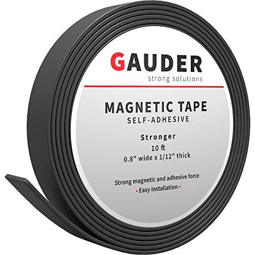 GAUDER Magnetband selbstklebend I Magnetstreifen I Magnetklebeband (20mm x 3m)