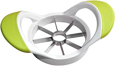 BAOBLADE Vegetable Stainless Steel Fruit Easy Cutter Slicer Apple Corer Tool 3 Colors Available - Green, as described