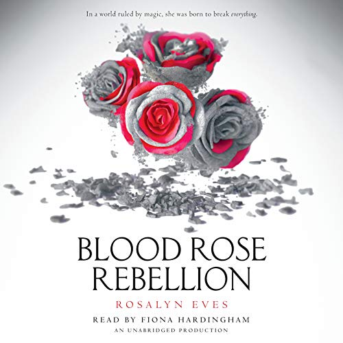Blood Rose Rebellion audiobook cover art