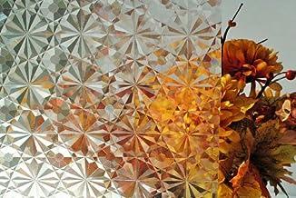 Film décoratif 3D réutilisable en vinyle pour fenêtre Transparent ...