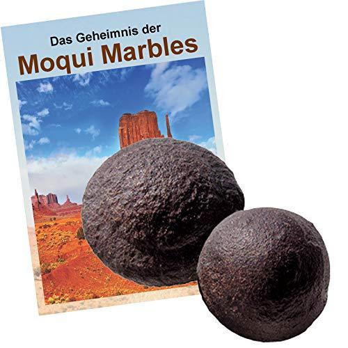 Moqui Marbles Paar ca.1,5-2cm mit Zertifikat & deutschsprachigem Booklet