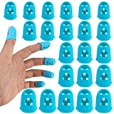SKPPC Guitar Finger Guards,Guitar Fingertip Protectors Protection Covers Caps,Non-slip Fingertip Protection Covers Caps for Stringed Instrument Guitar,Ukulele,Bass,Sewing and Embroidery,50 Pcs,5 Sizes